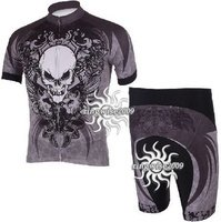 Free Shipping!! CYCLING JERSEY+SHORTS BIKE SETS CLOTHES 2011 AISON TEAM-GRAY-SIZE:S-3XL