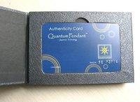 FREE SHIPPING 20pcs/lot quantum pendant Energy Quantum Science Scalar Energy Pendant With Product Registration Card