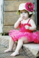 New Arrival!! Free Shipping (6 designs) Cotton Material Baby Flower Sun Hat / Girls Summer Hats