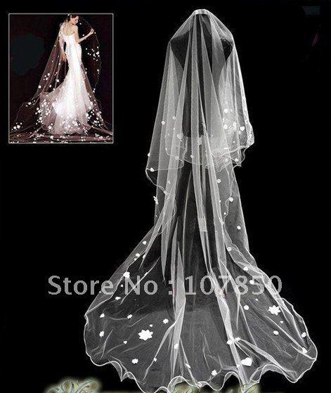 long to top of leg wedding veils