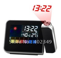 Factory Sale New Iphone Shape Colorful Large LCD Screen Projection Alarm Clock Multifunctional Clock