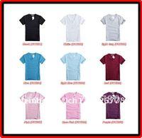 Free Shipping 3 pcs Casual Plain Colour V Neck Short Sleeve Slim Fit T Shirt Size M-XXL 9 Colours Available !!