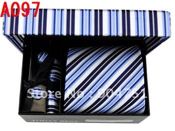 Ties Set Neckties Silk Stripe 2011 Free Ship Ties