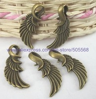 free shipping 32 pcs/lot,wholesale fashion lovely lether charms antique bronze charms jewelry charms jewelry accessories