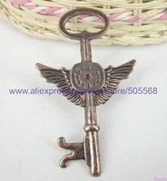 free shipping 21 pcs/lot,wholesale fashion lovely key charms antique bronze charms jewelry charms jewelry accessories