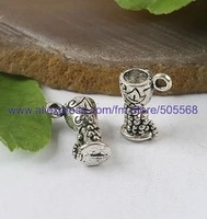 free shipping 57 pcs/lot,wholesale fashion lovely cup charms tibetan silver charms jewelry charms jewelry accessories