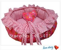 100% PP cotton Pet Beds soft warm dog sofa Pet Nest luxury Dog nest bowknot warm round beds size:40 +free shipping!