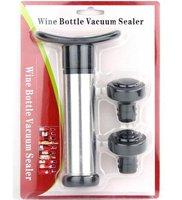 5pcs/lot WINE BOTTLE SAVER VACUUM PUMP SEALER STOPPER BAR OPENER, Stainless steel and plastic