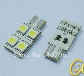 Extra Bright LED lamp,T10-4SMD 5050SMD . LED auto light, LED light. favourable price with reliable shipping agent(China (Mainland))