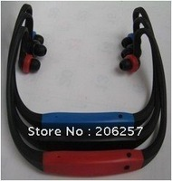 30pcs/Lot, 2G sport mp3 player,headset mp3, mini mp3,blue black,red