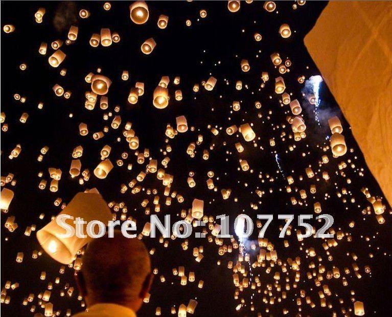 Wholesale Sky Lanterns Wishing Lamp Sky Chinese Lanterns Birthday Wedding
