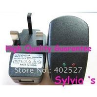 10pcs/Lot Free shipping AC CHARGER WALL PLUG 500mA For MP4 PDA US USA MP3