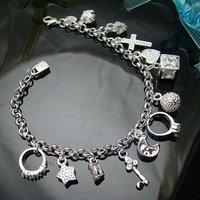 Wholesale 925 silver Bracelet, 925 silver jewelry Bracelet / 925 silver Bracelet with pendant free shipping LKB065