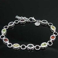Wholesale 925 silver Bracelet, 925 silver jewelry Bracelet / 925 silver Bracelet with pendant free shipping LKB067