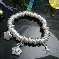 Wholesale 925 silver Bracelet, 925 silver jewelry Bracelet / 925 silver Bracelet with pendant free shipping LKB072