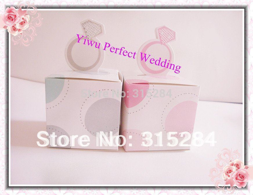 FREE SHIPPING--5 x 5 Square Wedding Favor Boxes, Candy Box, Decorating Box, Chocolate Box (XY-512)(China (Mainland))