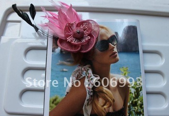 New Arrival Beige Sinamay Fascinator Hair Ornament #6 Colour