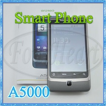 "3.5""Touch Dual Sim A5000 Smart Phone With GPS TV Wifi Android 2.2 Cell Phone Free Shipping 10pcs/lot"