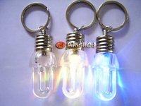 Novel,LED key chain, key chain spiral lamp, colorful phone chain, light bulbs key chain,led flashlight/FREESHIPPING