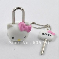 Mini  Cute Hello kitty Lock & Key, Cartoon Drawer  Lock--Free Shipping