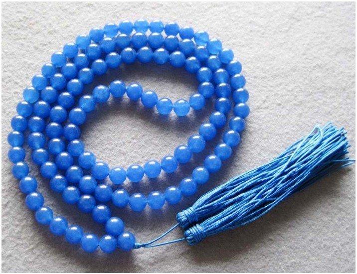 Budista tibetano 108 Jade Oração Colar Mala Beads 18 polegadas cor da moda Frete grátis(China (Mainland))