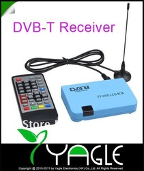 Free Shipping, Digital DVB-T FreeView Receiver Recorder Box LCD VGA AV TV Tuner(China (Mainland))