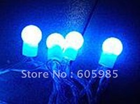 Wholesale - String Lights Led Christmas lights BALL STRING Blue+White STRING lights 100leds/10m High Quality Fast Post