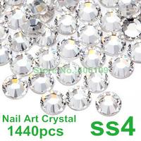 SS4 1.5mm Crystal Clear Color 1440pcs Flatback Rhinestones (Non Hotfix) Glue On Rhinestones 4ss Non Hotfix Rhinestones