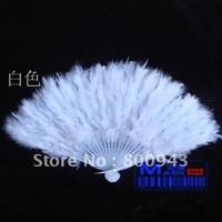 Chinese 28 root handles feather fan