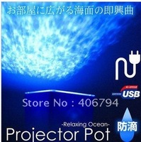 Freeshipping LED light Relaxing Ocean Projector