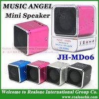 Free Shipping MP4 Speaker Mini Pink speaker MUSIC ANGEL 4PCS