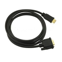 6ft 1.8M Gold HDTV HDMI to VGA HD15 Adapter Cable High Quality Fast Post