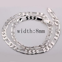 Wholesale free shipping Fashion 925 silver /925 silver jewelry men's necklace,925 silver necklace pendant LKN3