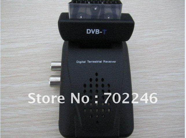 Scart Digital Terrestrial TV Box Tuner DVB-T FreeView Receiver SD/MS/MMC Card Reader(China (Mainland))
