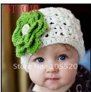 30pcs Children's hats baby Caps knitting hat crochet hat headband barrette girls beanie muffle beret  white