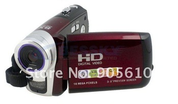 "3.0"" LCD 16.0 MP Digital Video Camcorder Camera DV Red"