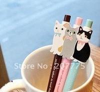 lazy cat theme pen/cute ball pen/0.5mm/choo choo pen/best gifts/100 pieces per lot