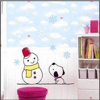 Free shipping,PVC DIY Snowman wall stickers, brand new design,Children bedroom wallpaper,TC959