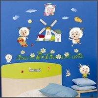 Free shipping,PVC DIY Sheep wall stickers, brand new Windmill home stickers,100pcs/lot,TC961