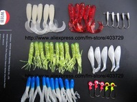 90pcs/set seahunter -037 mix soft lure&jig head hook fishing lure fishing bait