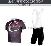 Free Shipping!! CYCLING JERSEY+BIB SHORTS BIKE SETS CLOTHES 2011 CASTELLI TEAM -BLACK-SIZE:S-3XL