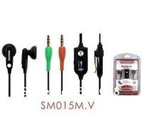 hot sales The quality goods ear wheat lip gloss ear plug type zone lines control the belt microphone earphone 5pcs