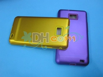 Free shipping 30pcs/lot Hot selling aluminium&silicone case Cover for Samsung I9100 Galaxy S2 S 2