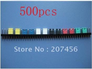 Freeshipping 500x 2.54mm Standard Circuit Board Jumper Cap shunts