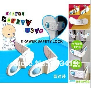 Wholesale products baby care drawer safety door locks infant cabinet wholesale retail(China (Mainland))