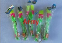 50pcs/lot 2011 Newest toy LED Amazing arrow helicopter Flying umbrella OPP BAG CARD PACKING