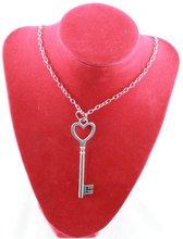 silver heart key necklace promotion