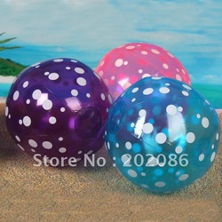 Wholesale White spot inflatable beach ball Pvc beach ball balloon Toy ball hotsale 22cm 50pcs/lot fast delivery free shipping(China (Mainland))
