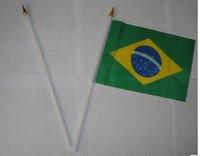 Brazil flag  14 * 21cm hand flag 500 psc /lot