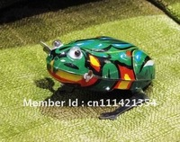 clock working tin toy tin animal mini wind-up Jumping Frog